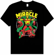 Mr. Miracle T-shirt - Mister Miracle Superhero Adult Black Tee
