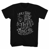 Mr. Mister Rogers Shirt Grow Ideas Black T-Shirt