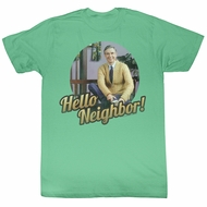 Mr. Mister Rogers Shirt Hello Neighbor! Heather Green T-Shirt