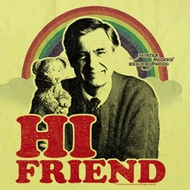 Mr. Mister Rogers Shirt Hi Friend Adult Yellow Tee T-shirt