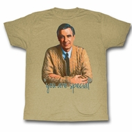 Mr. Mister Rogers Shirt You Are Special Khaki T-Shirt