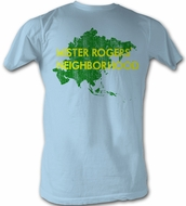 Mr. Mister Rogers T-shirt Asia Adult Light Blue Tee Shirt
