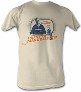 Mr. Mister Rogers T-shirt Make Believe Adult Natural Tee Shirt