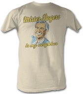 Mr. Mister Rogers T-shirt My Neighbor Adult Natural Tee Shirt