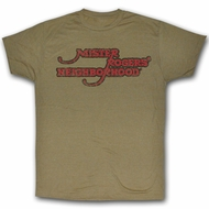 Mr. Mister Rogers T-shirt Neighborhood Adult Brown Heather Tee Shirt