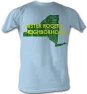 Mr. Mister Rogers T-shirt New York Adult Light Blue Tee Shirt