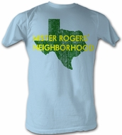 Mr. Mister Rogers T-shirt Texas Adult Light Blue Tee Shirt