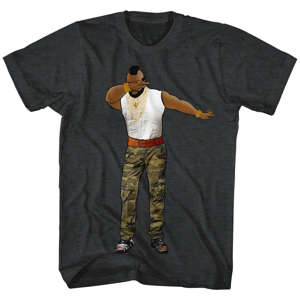 mr t shirt dabbin 39 heather charcoal t shirt mr t shirts. Black Bedroom Furniture Sets. Home Design Ideas