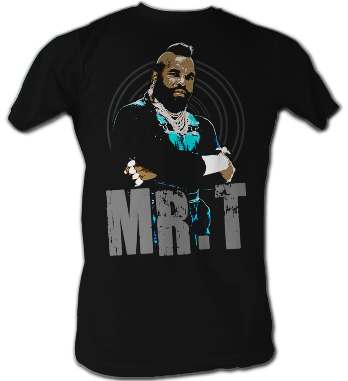 mr t t shirt black and white a team adult black tee shirt mr t shirts. Black Bedroom Furniture Sets. Home Design Ideas