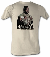 Mr. T T-Shirt - Cadena A-Team Adult Dirty White Tee Shirt
