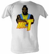 Mr. T T-Shirt - Cartoon T A-Team Adult White Tee Shirt