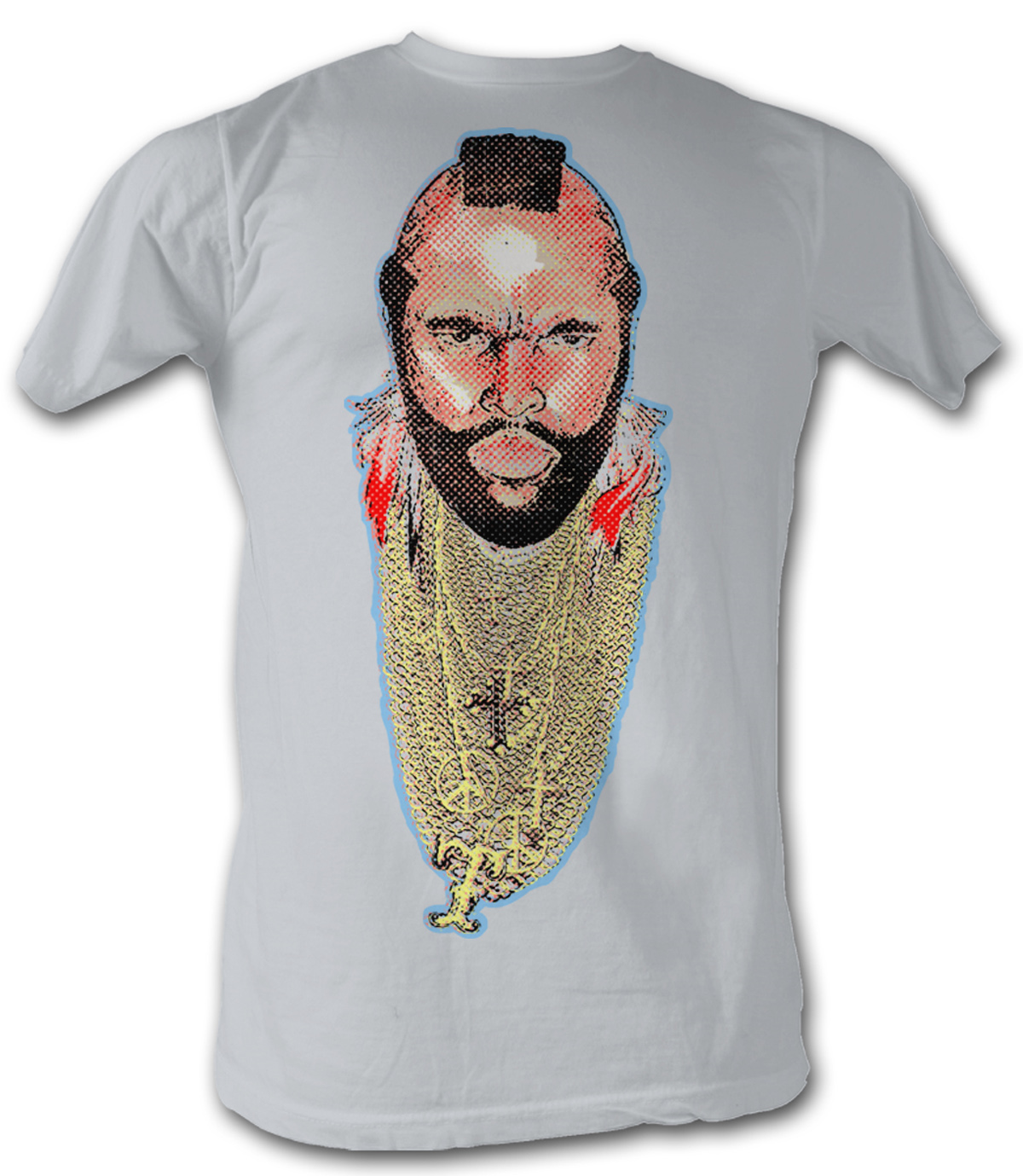 mr t t shirt chain of fool a team adult silver tee shirt mr t shirts. Black Bedroom Furniture Sets. Home Design Ideas