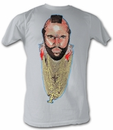 Mr. T T-Shirt - Chain Of Fool A-Team Adult Silver Tee Shirt