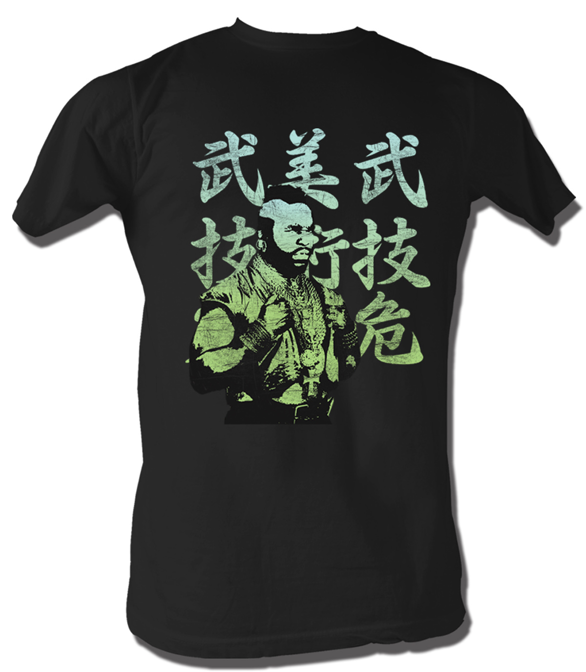 mr t t shirt japanese a team adult black tee shirt mr t shirts. Black Bedroom Furniture Sets. Home Design Ideas