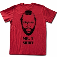Mr. T T-shirt Mr. T Shirt Adult Red Tee Shirt
