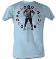 Mr. T T-Shirt No Way Sucka A-Team Adult Light Blue Tee Shirt