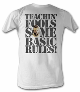 Mr. T T-Shirt - Rules For Fools A-Team Adult White Tee Shirt