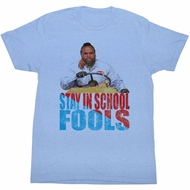Mr. T T-shirt Stay In School Adult Light Blue Tee Shirt