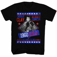 Muhammad Ali Shirt Gold Medalist Black T-Shirt