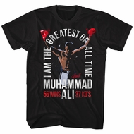 Muhammad Ali Shirt I Am The Greatest Black T-Shirt