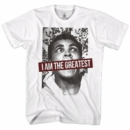 Muhammad Ali Shirt I Am The Greatest White T-Shirt