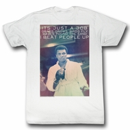 Muhammad Ali Shirt I Beat People Up White T-Shirt
