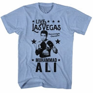 Muhammad Ali Shirt Live In Vegas Light Blue T-Shirt