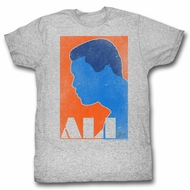 Muhammad Ali Shirt Orange And Blue Athletic Heather T-Shirt