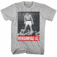 Muhammad Ali Shirt Over Liston Athletic Heather T-Shirt
