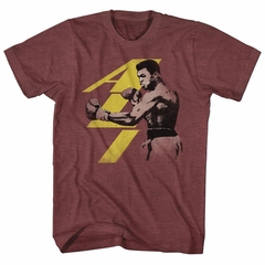 Muhammad Ali Shirt Punch Heather Maroon T-Shirt