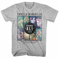Muhammad Ali Shirt Thrilla In Manila 1975 Athletic Heather T-Shirt