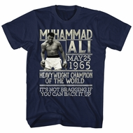 Muhammad Ali Shirt You Can Back It Up Navy Blue T-Shirt