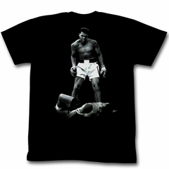 Muhammad Ali T-shirt Adult Ali Over Liston Black Tee Shirt