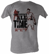 Muhammad Ali T-shirt Adult The Greatest Grey Heather Tee Shirt