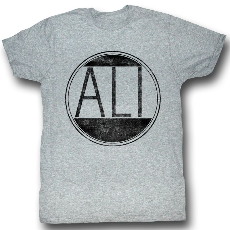 muhammad ali t shirt ali circle adult heather grey tee. Black Bedroom Furniture Sets. Home Design Ideas