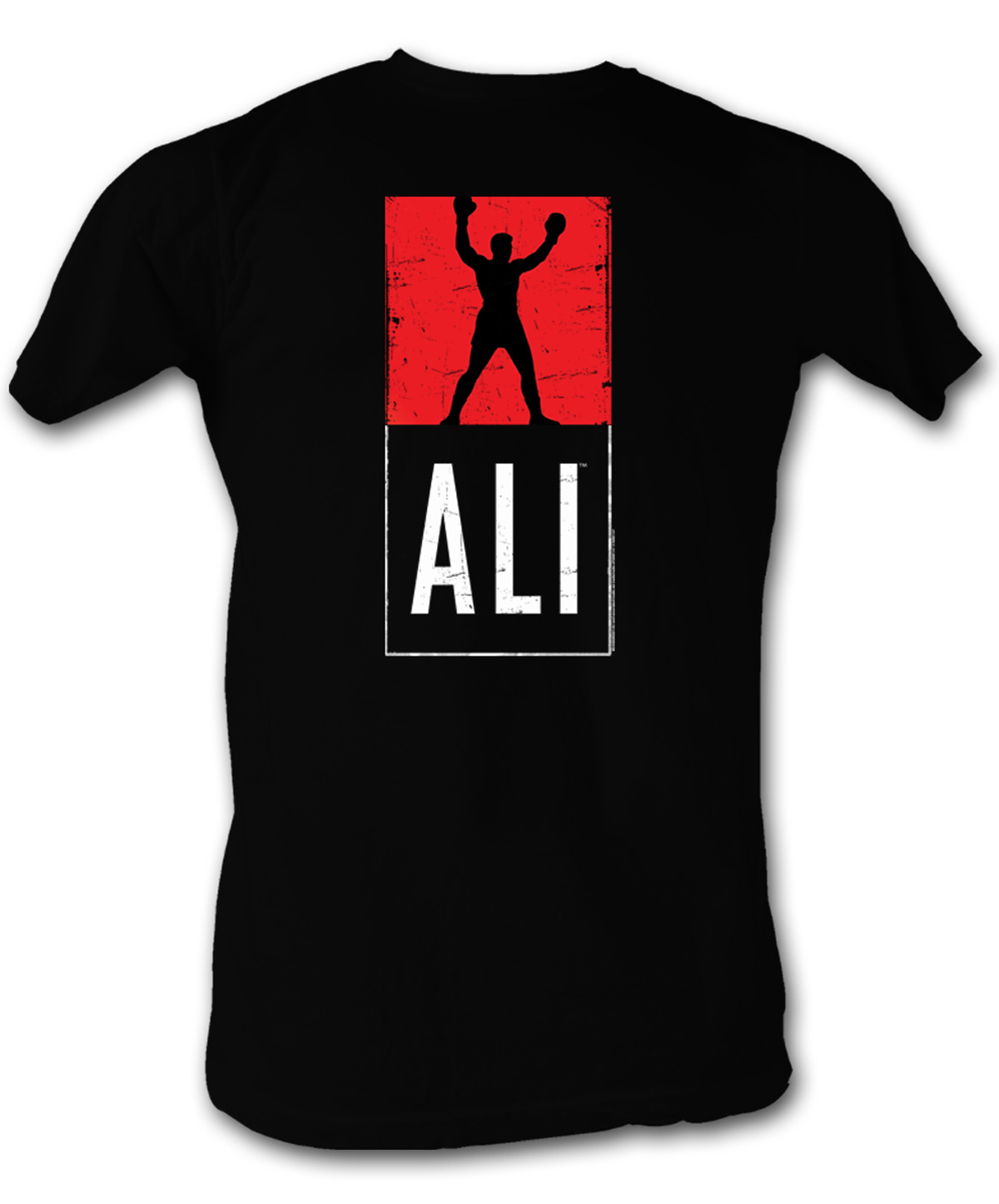 muhammad ali t shirt ali logo adult black tee shirt. Black Bedroom Furniture Sets. Home Design Ideas