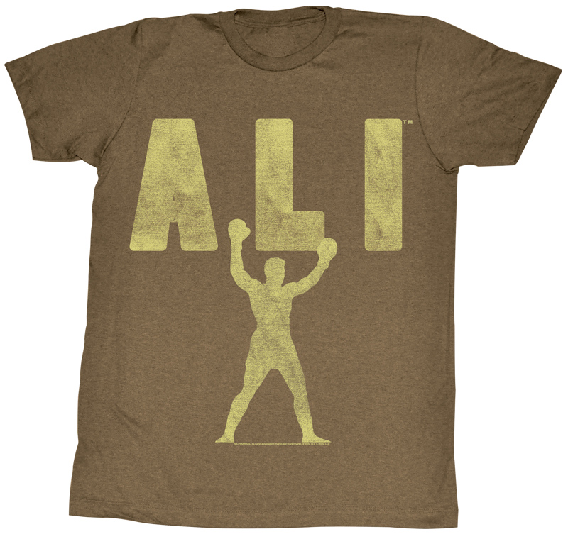 muhammad ali t shirt ali victory adult heather brown tee. Black Bedroom Furniture Sets. Home Design Ideas