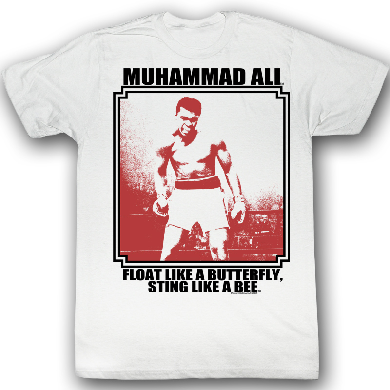 muhammad ali t shirt lurkin adult white tee shirt. Black Bedroom Furniture Sets. Home Design Ideas