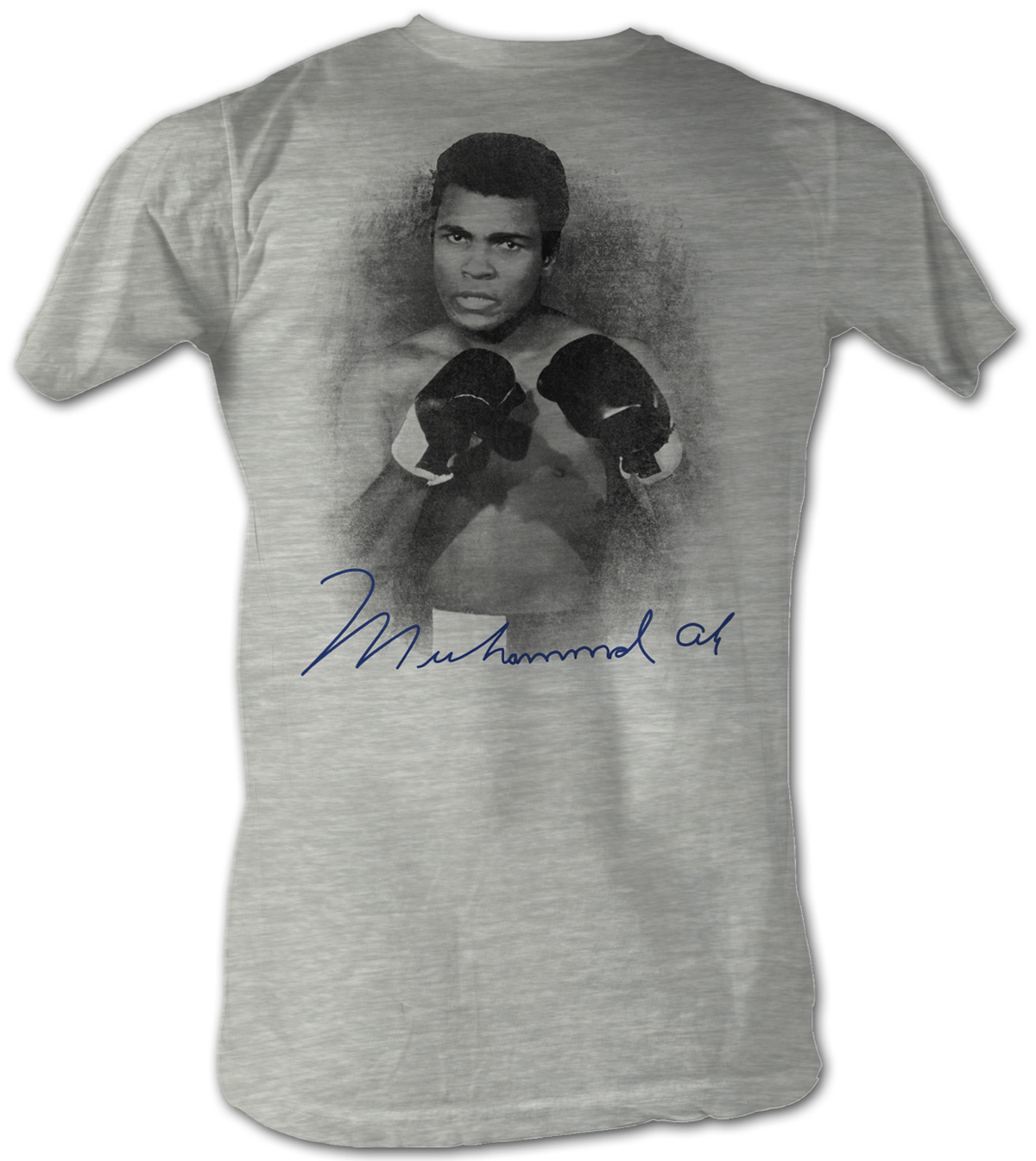 muhammad ali t shirt profile adult heather grey tee shirt. Black Bedroom Furniture Sets. Home Design Ideas