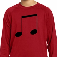 Music 8th Note Kids Dry Wicking Long Sleeve Shirt