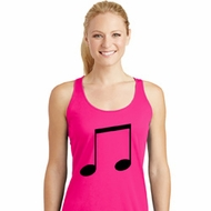 Music 8th Note Ladies Dry Wicking Racerback Tank Top