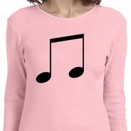 Music 8th Note Ladies Long Sleeve Shirt