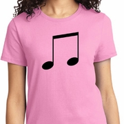 Music 8th Note Ladies Shirts