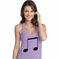 Music 8th Note Ladies T-Back Tank Top