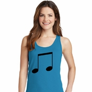Music 8th Note Ladies Tank Top