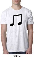 Music 8th Note Mens Burnout Shirt