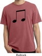 Music 8th Note Pigment Dyed Shirt