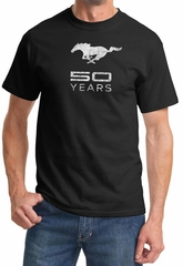 Mustang 50 years Mens Shirt - Anniversary Edition Tee - Black