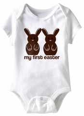 My First Easter Funny Baby Romper White Infant Babies Creeper