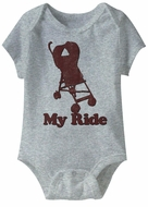 My Ride Funny Baby Romper Athletic Heather Infant Babies Creeper